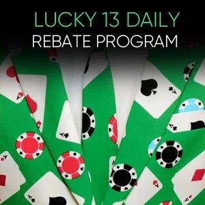 Lucky 13 Daily Rebate Program